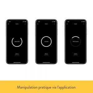 visualisation smartphone serrure connectee nuki