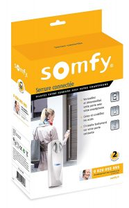 Le packaging de la serrure connectée Somfy